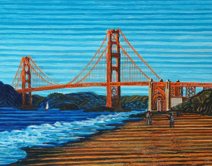Golden gate bridge from Baker