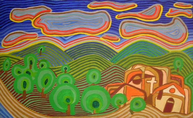 Glorious sunrise - Linear Painting by Prakash N Chandras