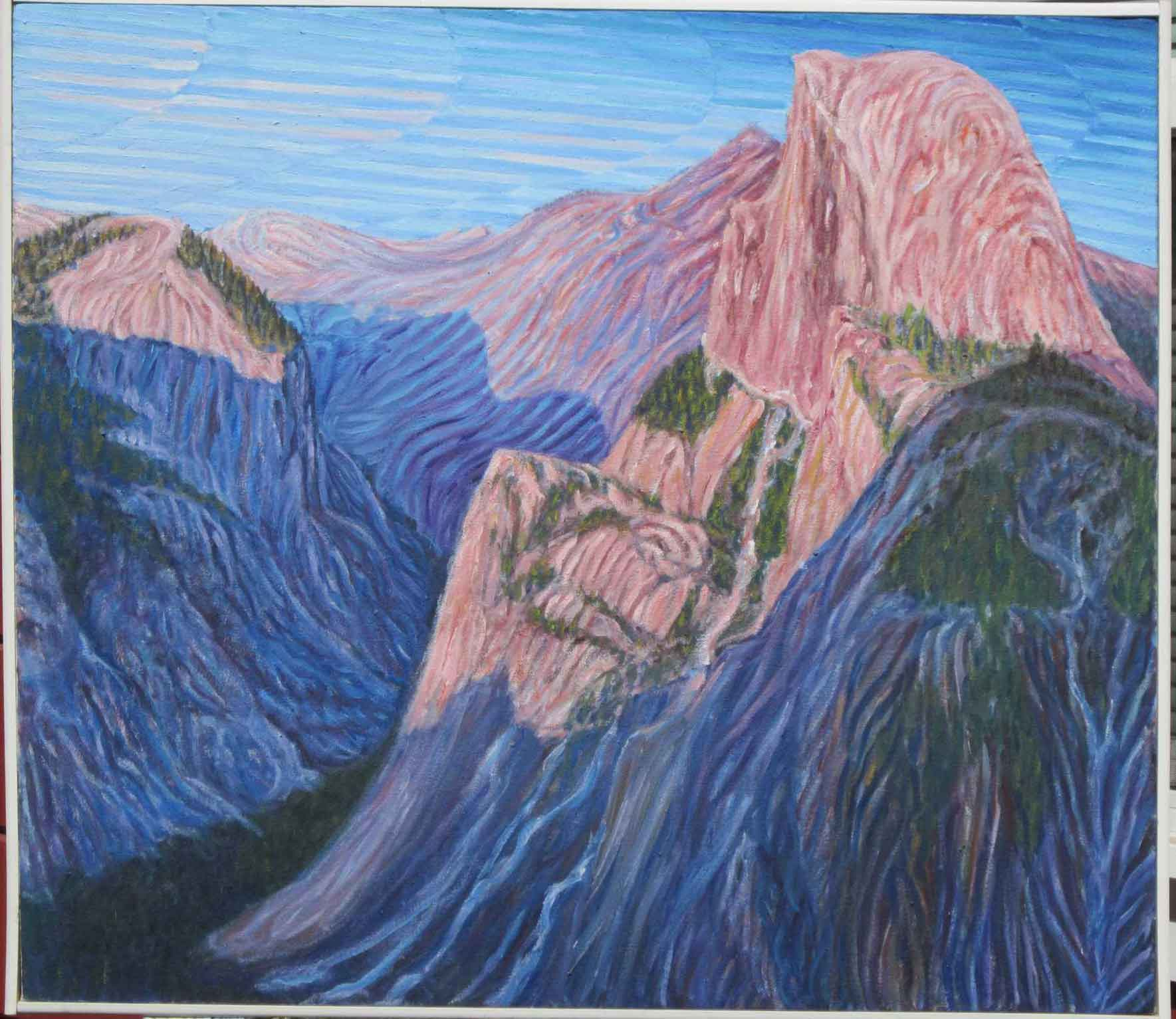 Half Dome - Linear Painting - Prakash N Chandras