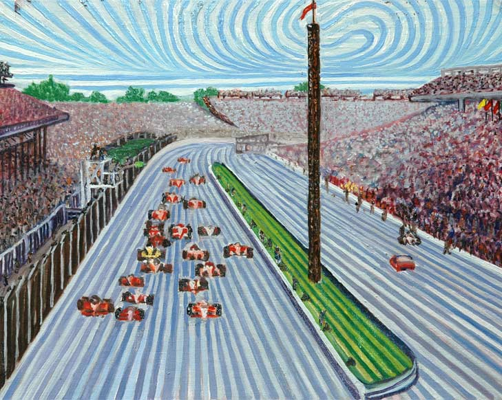 Indy 500 - Linear Painting by Prakash N Chandras