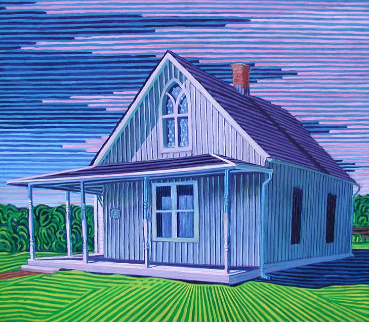 Iowa gothic - Linear Painting by Prakash N Chandras