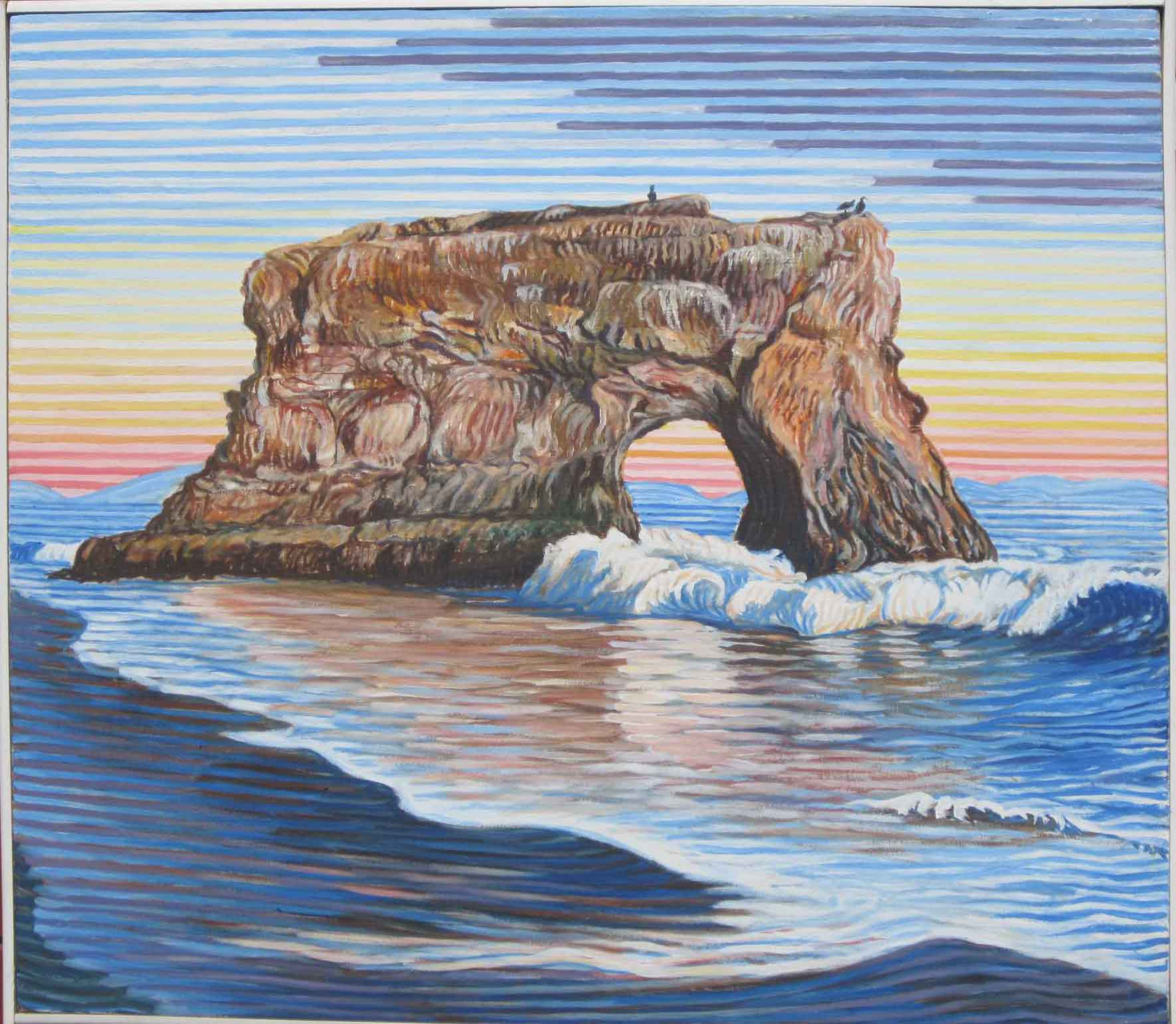 Natural Bridges State Beach - Linear Painting - Prakash N Chandras