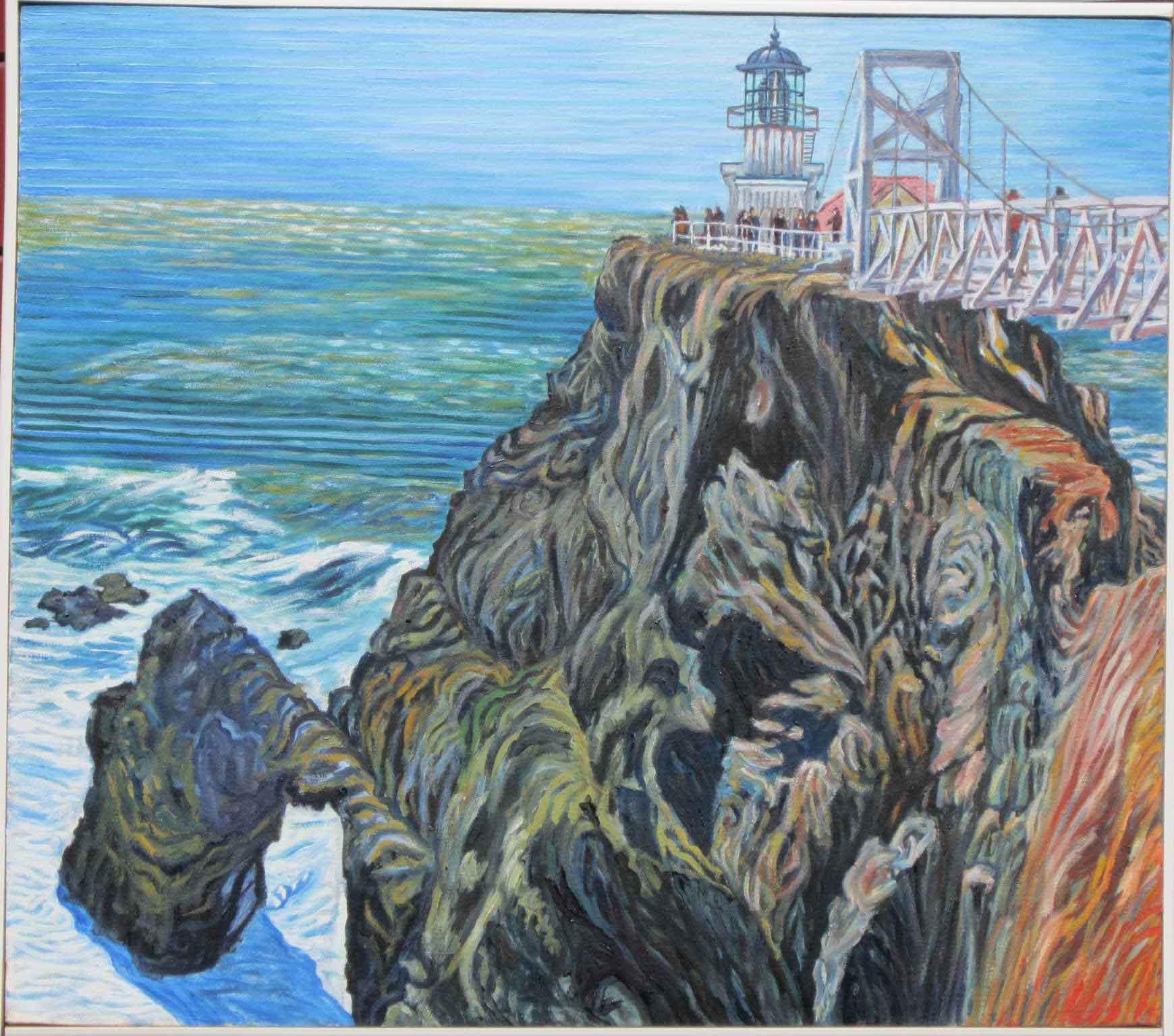 Point Bonita Lighthouse - Linear Painting - Prakash N Chandras