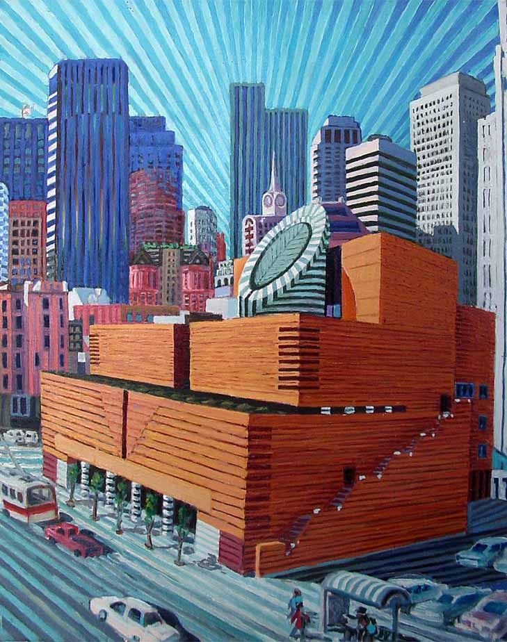 The New SFMOMA - Linear Painting by Prakash N Chandras