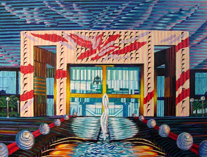 San Jose Convention Center - Linear Painting by Prakash N Chandras