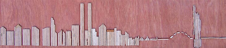 The Statue of Liberty with its Back Turned to the World - Linear Painting by Prakash N Chandras