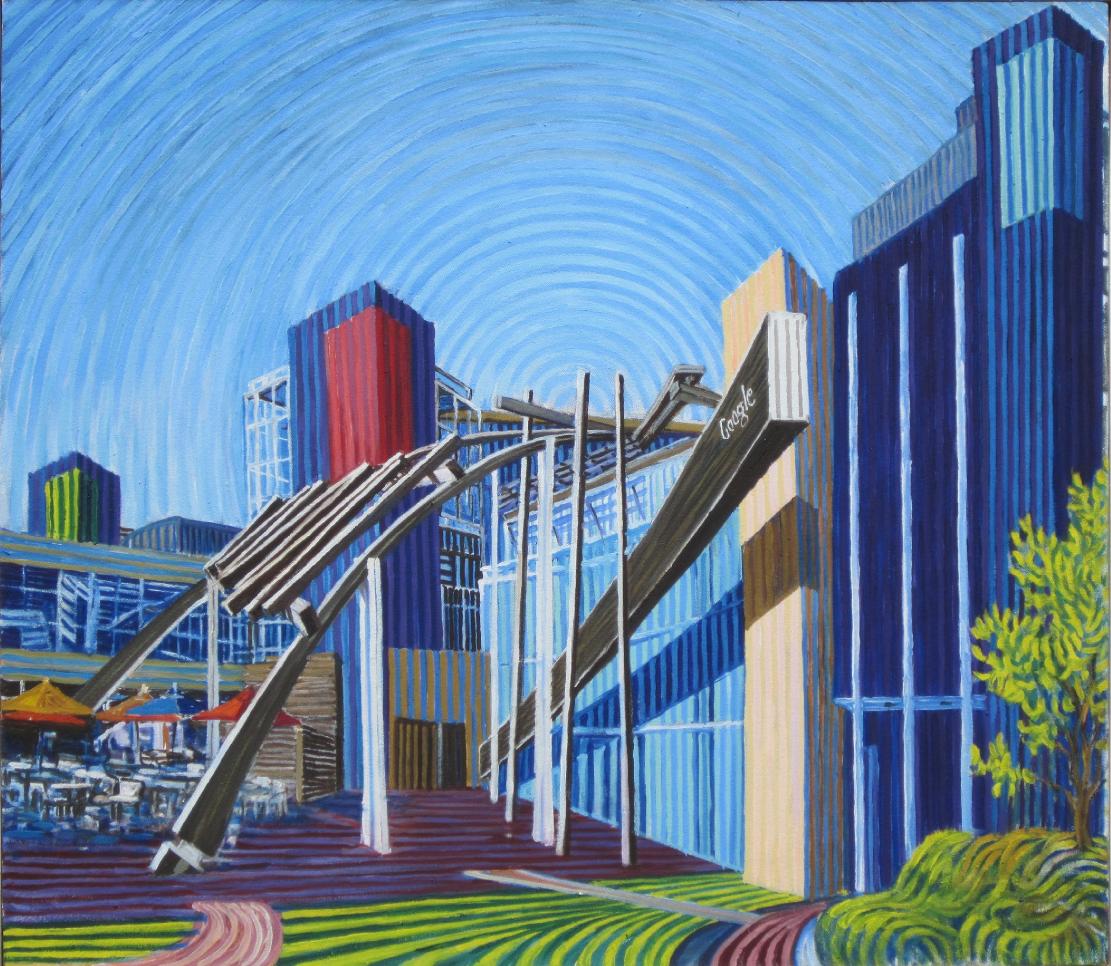 Google Inc. - Linear Painting by Prakash Chandras